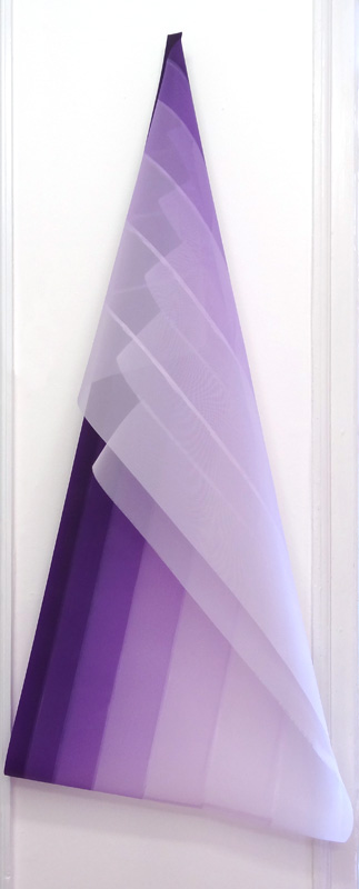 Ingrid Kæseler 'Performed Lines' 2015 'Chromatic Purple #1' akryl på gaze 150 x 70 cm
